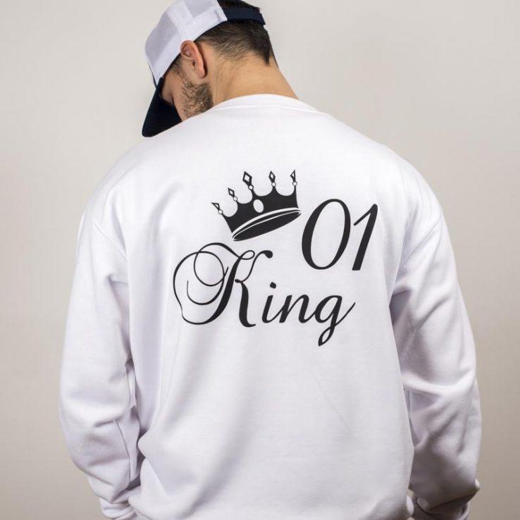 bf38f4a53ba9 KING mikina čierna so zlatým nápisom - Všetko pre teba.sk